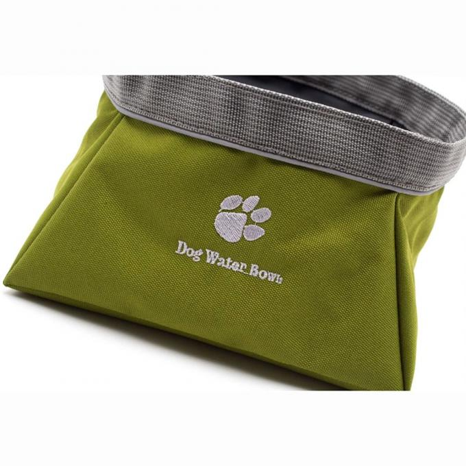 Collapsible Oxford Cloth Dog Bowl, Foldable Expandable Cup Dish Pet Raised Dog/Cat Food Water Feeding Portable Waterproof Travel Camping Bowl