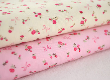 China Soft Floral Stretch Corduroy Fabric Cloth For Baby Children factory