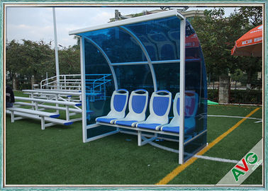 Stadium Mobile Football Field Equipment Soccer Player Team Bench Seats With Shade