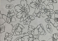 Green / White Flower / Butterfly Jacquard Upholstery Fabric Materials