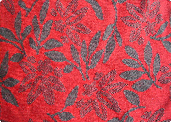 Lightweight Red Jacquard Dress Fabric Apparel Fabric By The Yard supplier
