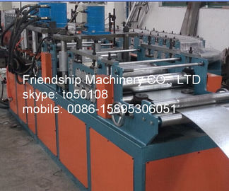 11Kw GI 2MM ThicknessFrame Roll Forming Machinery For Making Fire Damper Frame 292mm