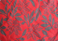 Lightweight Red Jacquard Dress Fabric Apparel Fabric By The Yard